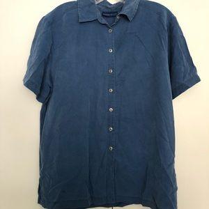 Karen Scott short sleeve button up shirt